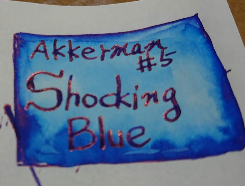 Akerman #5 Shocking Blue Sheen ink
